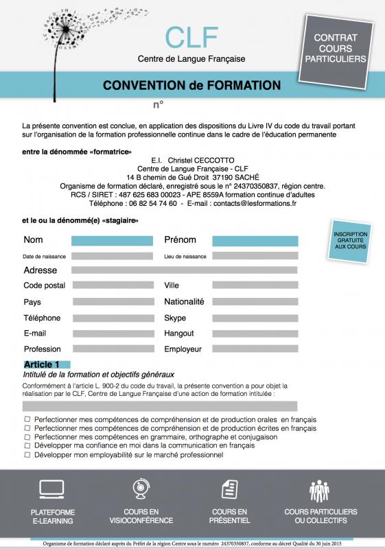 Contrat de cours 1