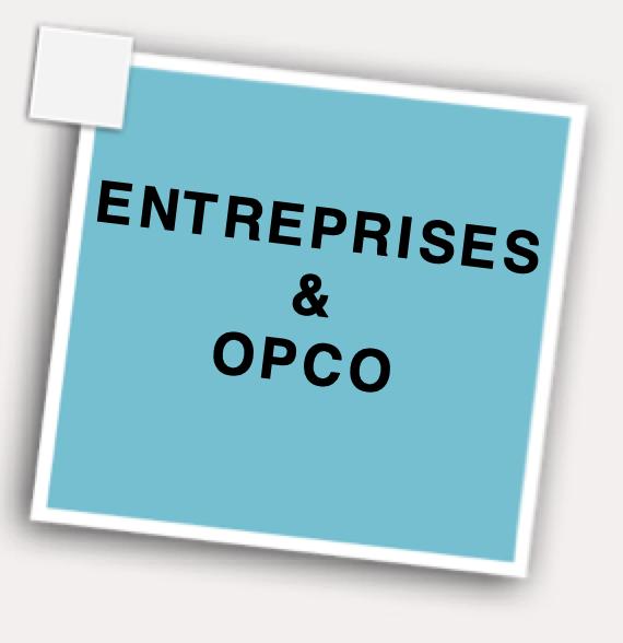 Espace entreprises et OPCO