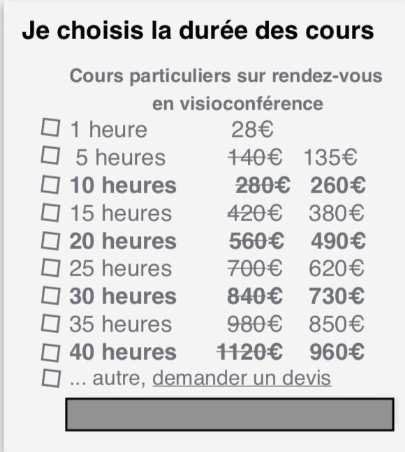 Forfaits webcours clf