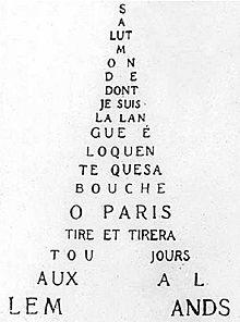 Guillaume Apollinaire, un calligramme