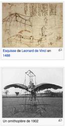 Machines volantes Léonard de Vinci