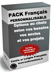 Pack formation francais personnalisable fle flm clf