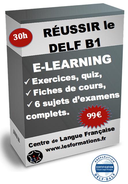 Réussir le delf B1 en e-learning pour 99€